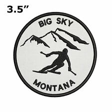 """Big Sky, Montana - Extreme Sports Skier 3.5"""" Embroidered Iron or Sew-on Patch"""