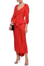 Stella McCartney Orange Silk Peplum Midi Dress - UK 8 / IT 38 - New With Tags