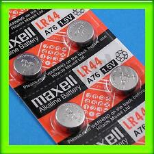 30 Pieces of Maxell LR44 A76 Alkaline Coin Button Battery 0% Hg Long Expire Date