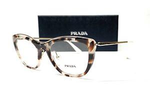PRADA VPR 04V UAO-1O1 Spotted Opal Brown Demo Lens Women's Eyeglasses 53mm