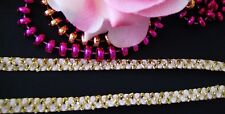 Lovely white with gold lace trim/ribbon - price for 1 yard