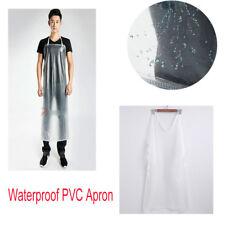 Semi-Transparent Waterproof Apron Pvc Coated Kitchen Butcher Work Wear Clean