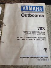 Yamaha Outboard Motor 703 Remote Control Box Operation Manual Installation