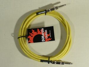 Dimarzio GREEN/YELLOW 3m 10 Foot Guitar Quality Instrument Cable Lead USA Made