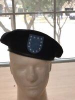 Genuine U.S. Military Surplus Wool Beret - Bancroft Cop Company - Black