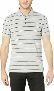 BNEW CALVIN KLEIN Navy Liquid Touch Polo Shirt, Medium, Heroic Grey