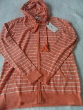 Fat Face Steph Stripe Hoodie Tangerine Size UK 10 Dh089 PP 06