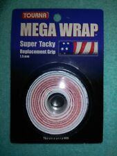 6 * TOURNA MEGA WRAP Tacky Tennis Replacement Cushion Grip Wrap STARS n' STRIPES