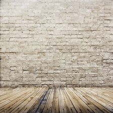 Vinyl Studio Brick Wall Wood Backdrop Photography Photo Background 3X5FT ZZ44 US