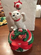 San Francisco Music Box Company Vintage 1994 Kitten with Ball, Music Toyland