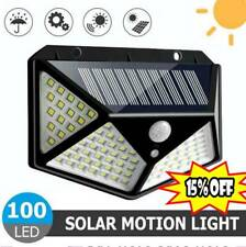 100 LED Outdoor Solar Power Wall Lights PIR Motion Sensor Garden Security Lamps