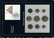 Coin Sets of All Nations Mexico 1987-1990 UNC 5,100,500,5000 Peso 1988