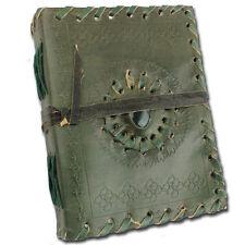 Medieval Dragon's Eye Journal Diary Handmade Leather Renaissance Fantasy Green