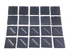 25mm Square Black Plastic Slotta / No Slot Bases - Wargaming Warhammer 40k