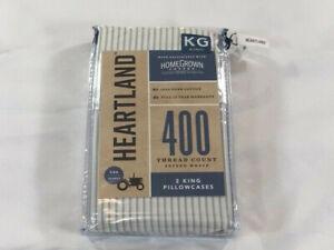 Heartland 400 Thread Count King Pillowcase Set - Pinstripe