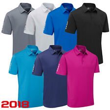 NEW 2018 STUBURT SPORT TECH  PLAIN GOLF POLO SHIRT