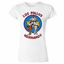 Los Pollos Hermanos Inspired Breaking Bad Womens T Shirt Bad Heisenberg Walter