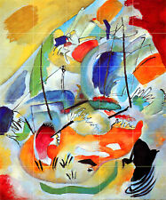 Art Mural Ceramic Backsplash Bath Kandinsky Tile #665