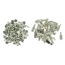 150pcs Glue on Heart Bails Pendant Hanger for Necklace Earrings Pendant Loop