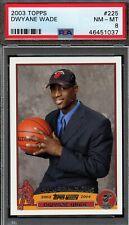 DWYANE WADE 2003-04 Topps Rookie Card RC PSA 8 NM-MT #225 Miami Heat