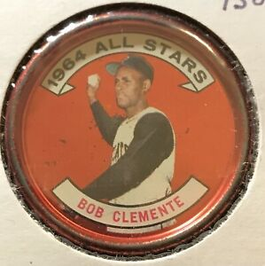 1964 TOPPS 1964 ALL STARS COIN - ROBERTO CLEMENTE (PIRATES) #150 LOT A