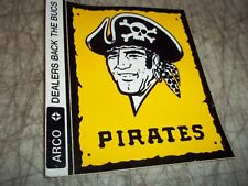 RARE VINTAGE 1972 PITTSBURGH PIRATES STICKER DECAL ARCO DEALERS BACK THE BUCS