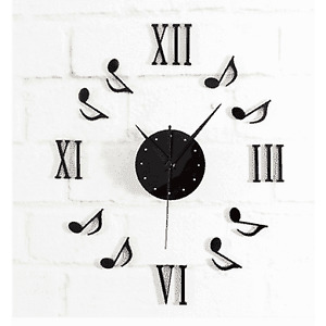 Music Themed Stick-on Wall Clock