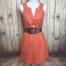 LOFT by Ann Taylor Size 8 Work Party Shift Sleeveless Knee Length Coral Summer
