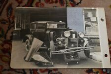 1 Antique Original Car Auto Photo 1928 Crash Toronto Accident