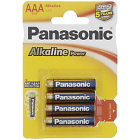 4 piles Panasonic AAA  alcaline power plus