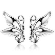 925 Sterling Silver Butterfly Fashionable Trendy Womens/Girls Cool Stud Earrings