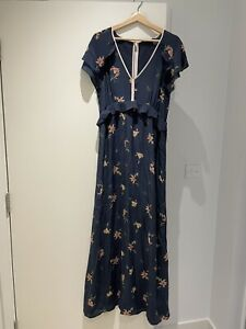 French Connection 16 Silk Maxi Dress