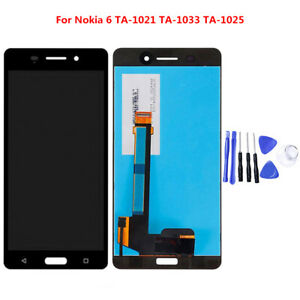 OEM Quality For Nokia 6 LCD Display Touch Screen Digitizer Replacement Black