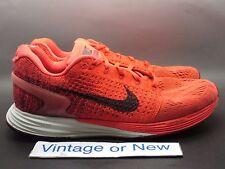 Nike Lunarglide 7 Bright Crimson Gym Red Burgundy Running 724382-002 sz 8.5