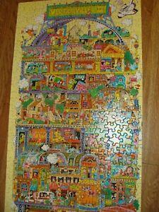100% COMPLETE Vtg Verticalville II Puzzle Springbok by Hallmark 700+ Pieces
