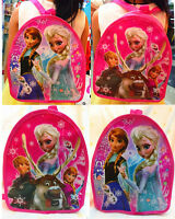 New Frozen Disney Anna Elsa Olaf Sven Girl Kids Backpack School Bag Gift