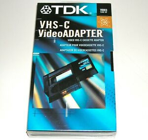 **NEW** ~ TDK VHS-C VideoAdapter (Video Cassette Adapter) VHS-C to VHS ~ SEALED
