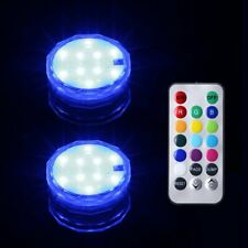 2 Pcs Submersible Led Water Lights Multi Color Waterproof Vase Pool Party Decor