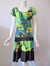 Tango Mango Collection Multi Color Floral Printed Stretch Thin Dress S