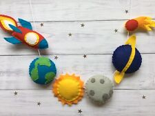 Baby/Child's Nursery Space Rocket, Moon & Planets Bunting/Garland/Decor