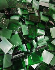 SHAMROCK GREEN Stained Glass Mosaic Scrap Pack, 100 PIECES - NEW COLOR