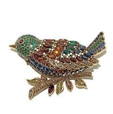 "Heidi Daus ""Marquise Madness"" Crystal Bird Pin"