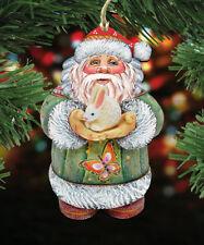 The Holiday Aisle Bunny Santa Hanging Figurine