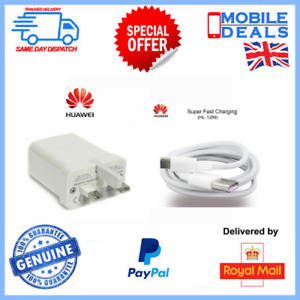 Huawei Mains Charger Adapter & Type C Data Cable for P20, P30, P40 Pro, P10 Mate