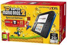 Nintendo 2DS Console Nero + Blu New Super Mario Bros 2 Edizione Speciale