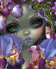 Jasmine Becket-Griffith art print fairy SIGNED Language of Flowers III: Irises