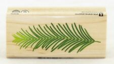 Pine Leaf Wood Mounted Rubber Stamp Inkadinkado NEW forest tree nature garden