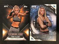 UFC 2015 Paige VanZANT Topps INSERTS (2 Card Lot)