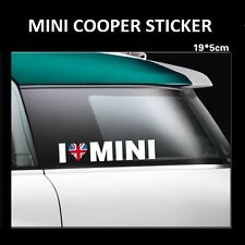 I Love Mini Sticker Vinyl Badge Emblem Decal Logo Window Car Body Bumper UK ILM