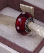NEW Pandora Red & Pink Murano Glass Sterling Silver Seeing Spots Bead 790633